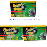 3 Packs X 2 Traps Roach = 6 Cockroach Killer Glue Trap Echols No Bugs Trampas