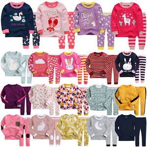 034-G40-Style-034-Vaenait-Baby-Kids-Toddler-Girls-Long-Clothes-Sleepwear-Set-12M-7T