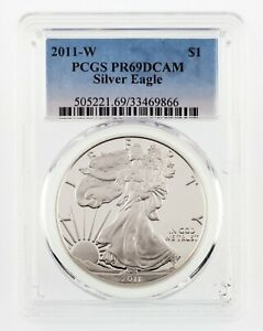 2011-W-1-Silver-American-Eagle-Graded-by-PCGS-as-PR69DCAM