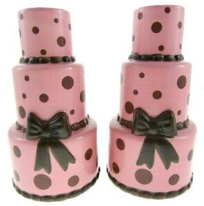 Miraculous 2Pc Set Pink Polka Dot 7 Tiered Girly Birthday Cake Vases Ceramic Personalised Birthday Cards Veneteletsinfo