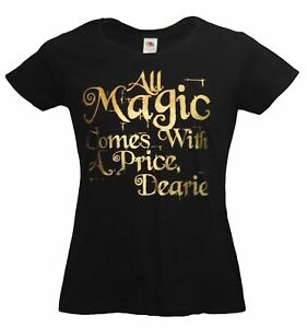 Ladies-Once-Upon-a-Time-T-Shirt-Black-All-Magic-Comes-With-a-Price-Mr-Gold