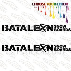 "2 of 8/"" Ride Snowboards //A snowboard car bumper vinyl stickers decals die cut"