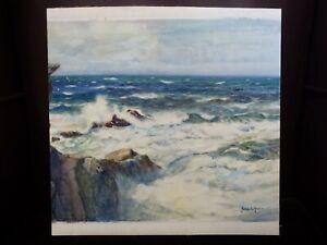 British-Watercolour-Painting-Cornish-Seascape-James-S-Scrimgeour-Mann-1883-1946