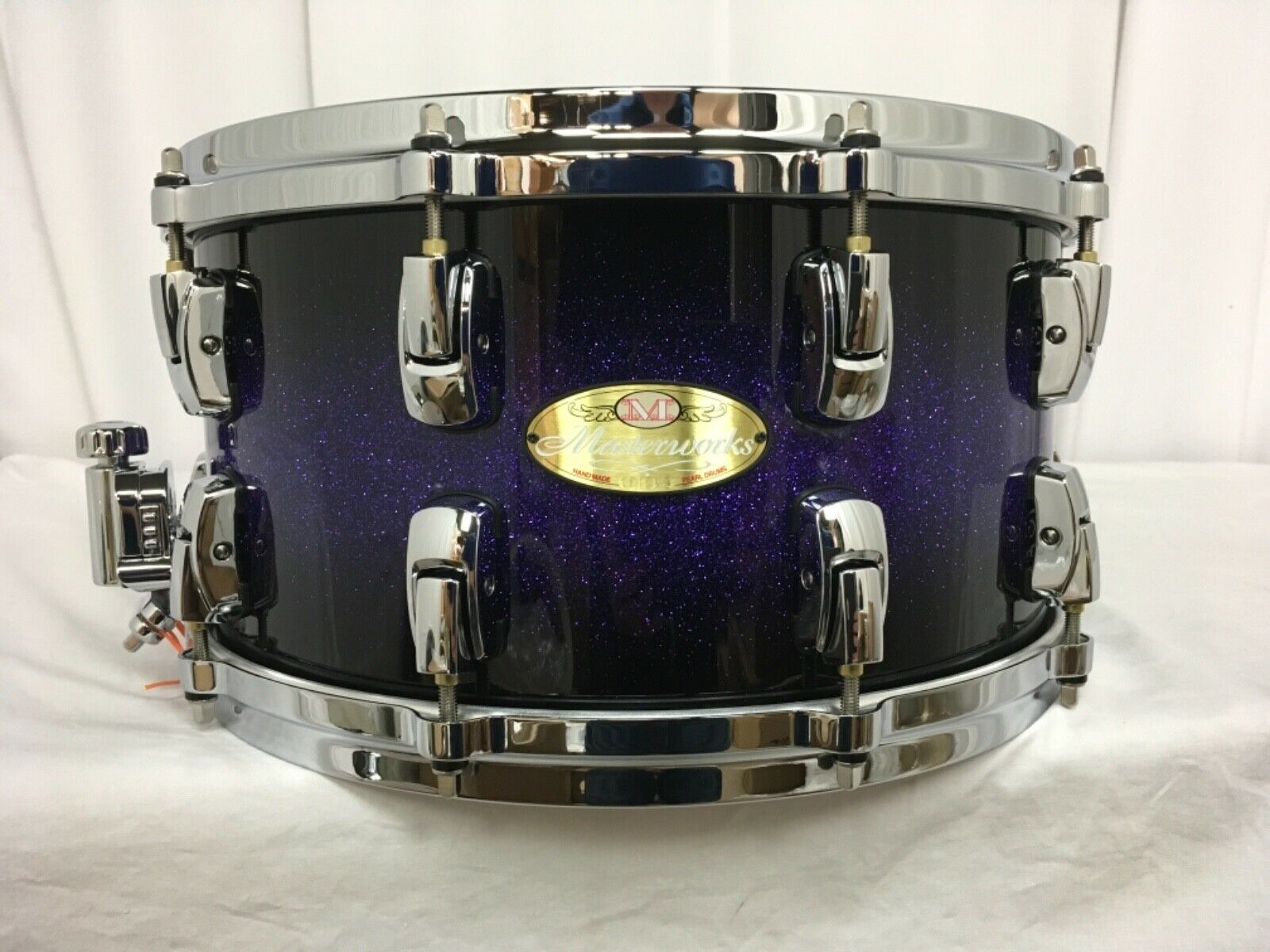 Pearl Masterworks 14  X 7  Snare Drum 20 Ply Maple-Birch Shell lila Craze ll