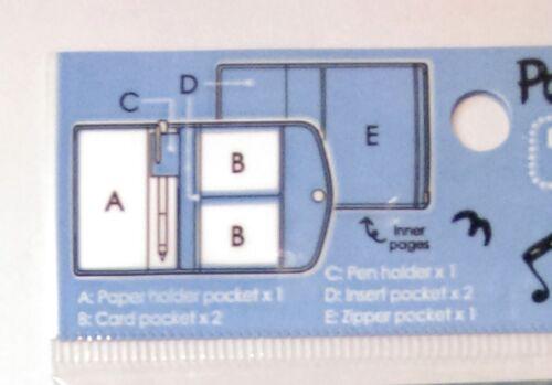 Sanrio Passport Holder w// Zip Pocket Card Slots Pen Loop Travel Organizer Wallet