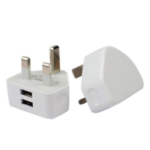 WHITE-DOUBLE-USB-UK-AC-WALL-PLUG-CHARGER-ADAPTER-2A-YJR-ALL-iPhones-SAMSUNG-YJ