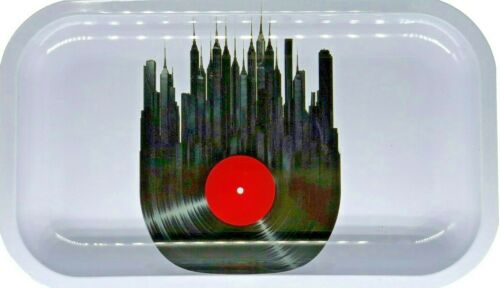 "Premium Rolling Tray /""City of Music/"" 6.25/"" x 11/"""