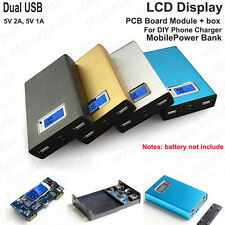 5V 2A LCD Display Dual USB Power Bank Battery Box Charger For iPhone Samsung Pad