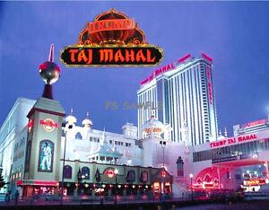 NJ Atlantic City TRUMP TAJ MAHAL Souvenir Fridge Magnet