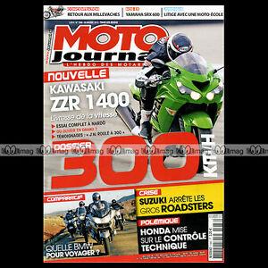 Amical Moto Journal N°1986 Yamaha Srx 600 Kawasaki Zzr 1400 Bmw K1600 Gt R1250 Gs R1200 Apparence Attractive