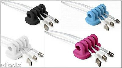Quirky Cordies Desktop Cable Management Keep Cables on The Table organizer Pink