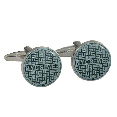 New York City Sewer Cover Cufflinks Gift Boxed NYC grate manhole NEW