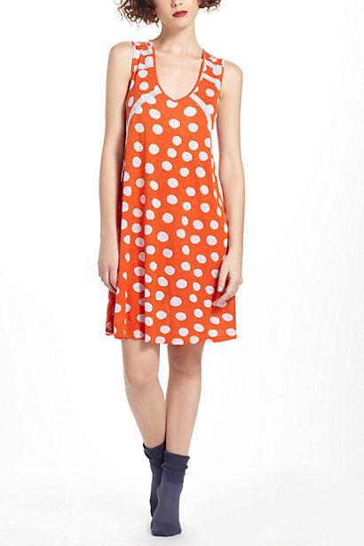 Anthropologie PORRIDGE L Chemise ROCOCO Dot Sleep Nightgown Lace Dress NIP