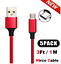 miniature 9 - 5 Pack Micro USB Braided Fast Charger Data Sync Cable Cord For Samsung Android