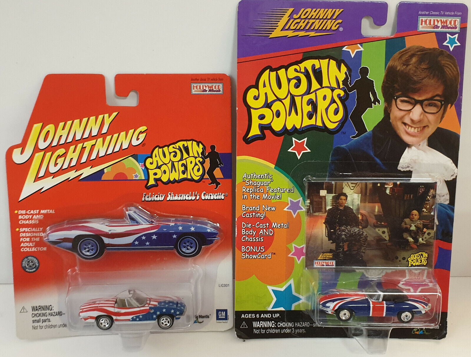 AUSTIN POWERS   FELICTY SHAGWELL'S CORVETTE & AUSTIN POWERS SHAGUAR SET