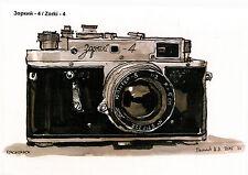 Aleksei Bychkov Zorki 4.  modern Rare new postcard