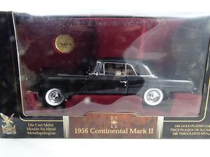 1-18-Road-Signature-1956-Continental-Mark-Negro-24k-Chapado-en-Oro-Moneda