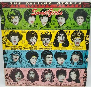 The Rolling Stones~Some Girls1978 Atlantic Recording Corp Die Cut~Celebrity Face