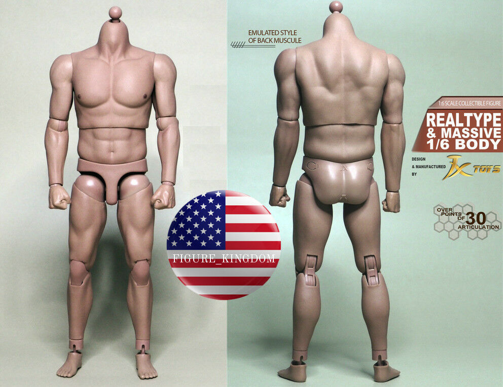 1 6 Scale Emulated Male Strong Muscular Body JXToys JXS02 12  Figure