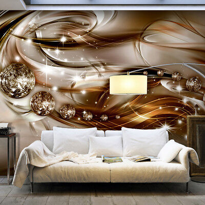 VLIES FOTOTAPETE Ornamente gold Diamant 3D optik TAPETE Schlafzimmer ...