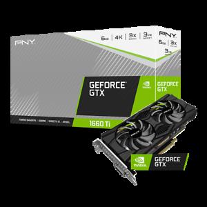 PNY Carte Graphique GeForce GTX 1660 Ti Dual Fan 6GB