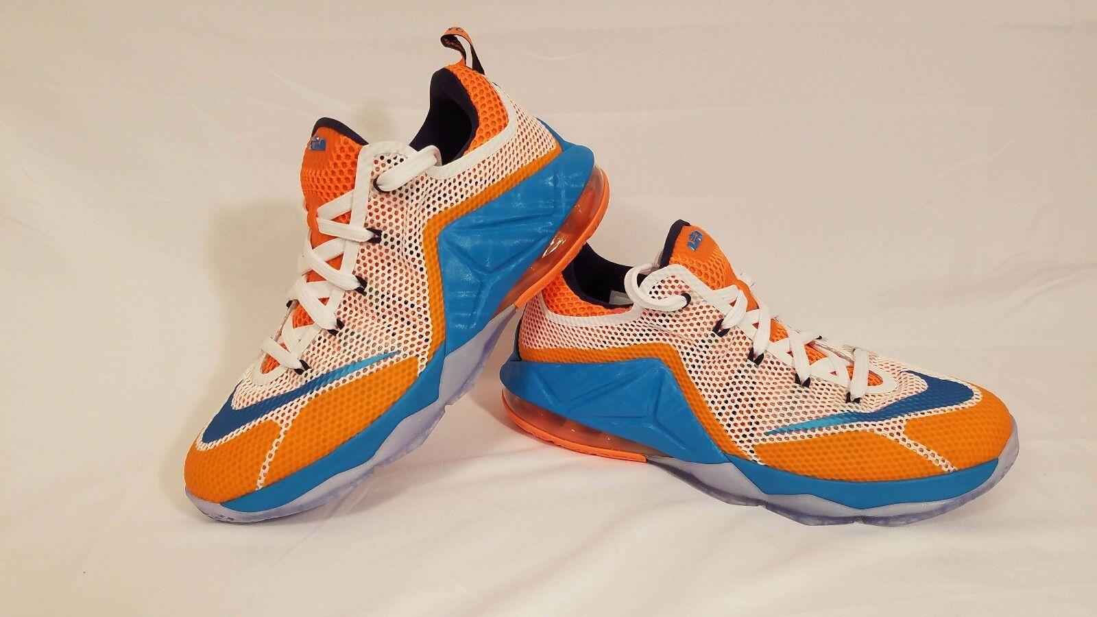 """Nike Lebron XII 12 \""""Kék Lagúna\"""" Air Max Kosárlabda Cipő 744547-100 Méret 6Y"""