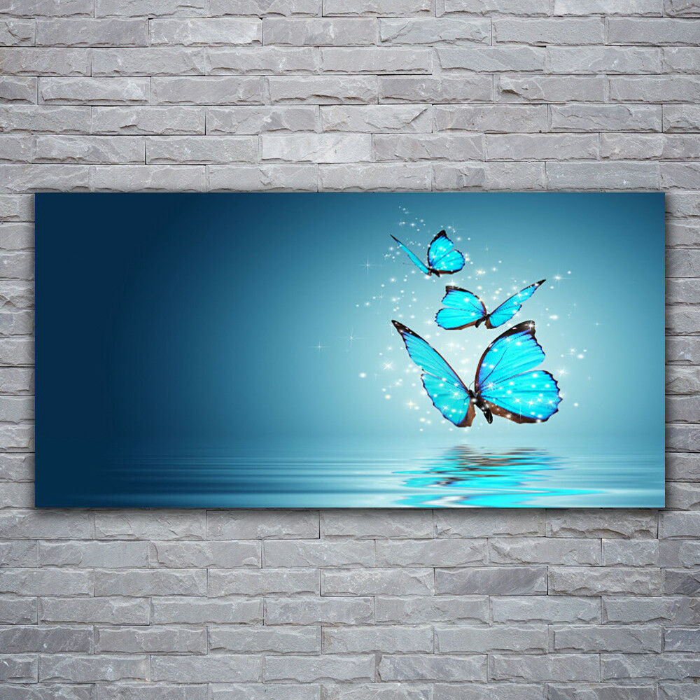 Glasbilder Wandbild Druck auf Glas 120x60 Schmetterlinge Kunst