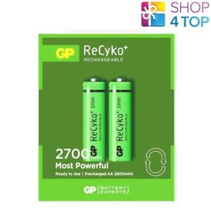 2-GP-RECYKO-2700-RECHARGEABLE-AA-BATTERY-2600mAh-HR6-270AAHCB-MN1500-1-2V-NEW