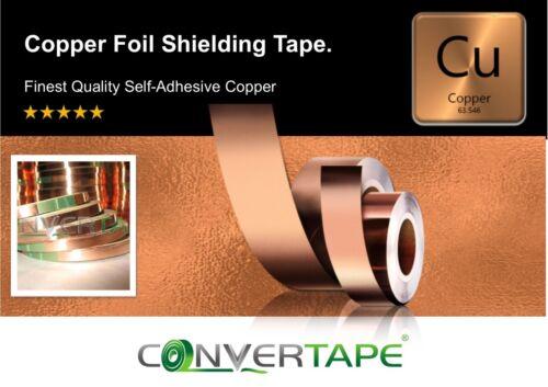 Tape Repellent Guitar Pickup Adhesive Conductive EMI Copper Slug Snail 6mm x 3m