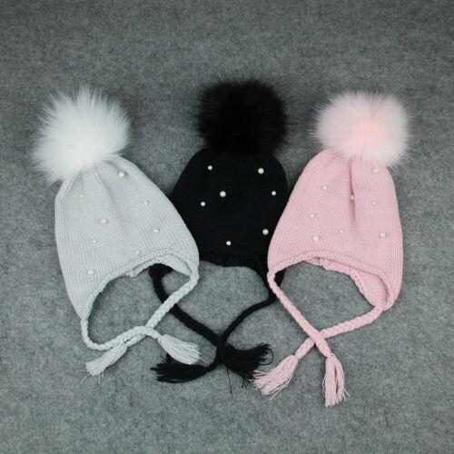 Haar Kugel Ohrstöpsel Baby Hut Handgemachte Häkelarbeit Winter Hut Haar Zusätze