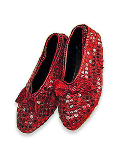 Red Sequin Shoe Covers - Wizard of Oz - Dorothy Ruby Slippers Costume Accessory