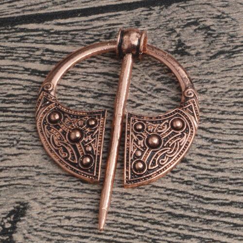 Retro Viking Collar Brooch Pin Buckle Spiral Clasp Brooch Cloak Pin Brooch Pip