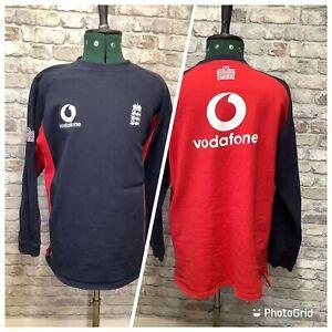 Admiral England Cricket ECC Vodafone Sponsor Jumper Sweater Sweatshirt XL