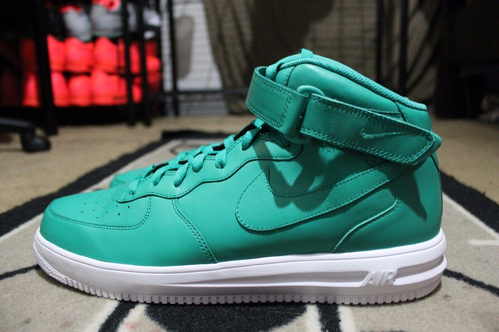 New Nike iD Air Force One 1 Hi Size 13 Teal White