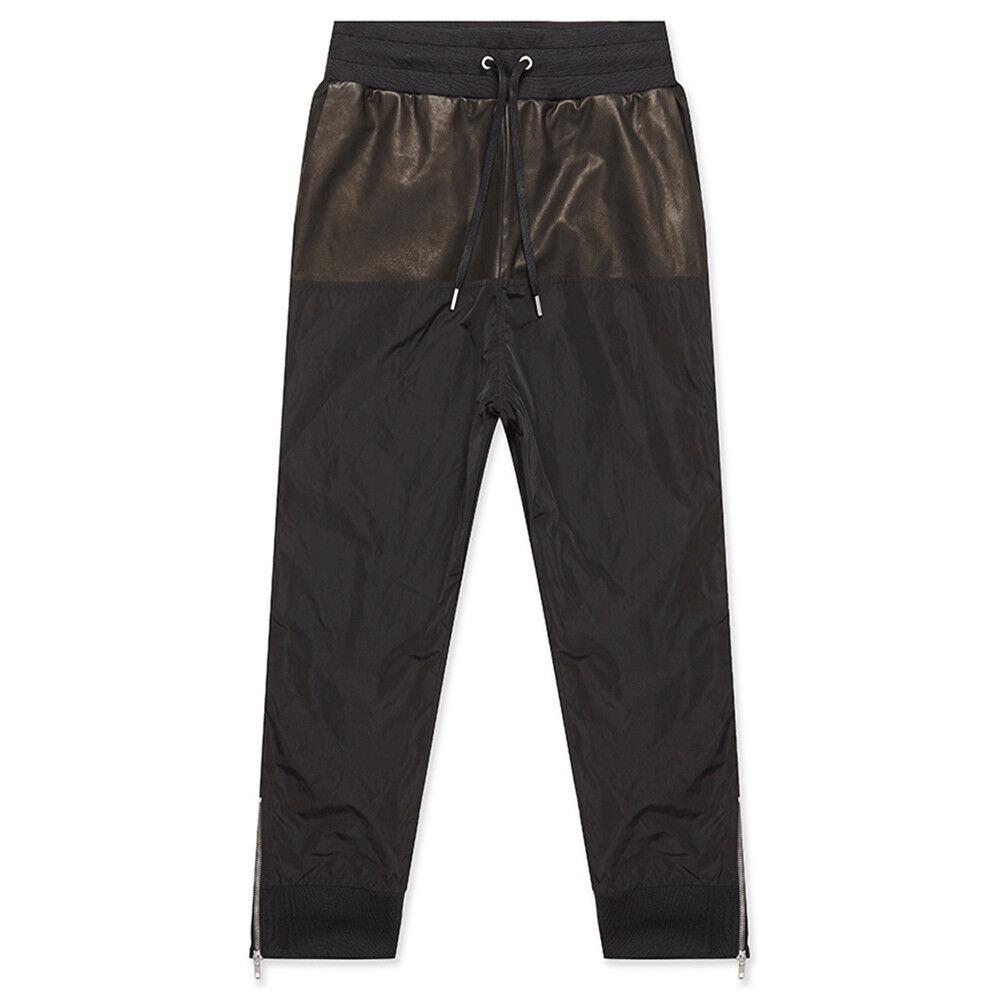 Frère De Sang En Cuir Noir Nylon Pantalon De Survêtement Pantalon Pantalon W28-30in 76-81 Cm Petit