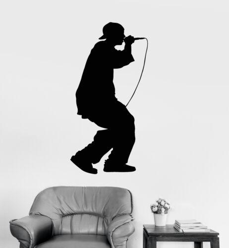 Vinyl Wall Decal Rapping Hip Hop Rap Singer Teenager Rapper Stickers (1820ig)