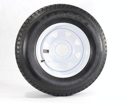 """Eco Trailer Tire Rim ST175/80D13 1758013 B78-13 13"""" LRC 5 Lug Wheel White Spoke"""