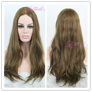 Sexy Straight 70cm Long Light Brown Invisible Part Carve