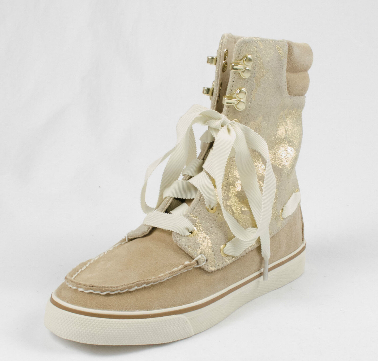 6M SPERRY TOP TOP TOP SIDER ACKLINS SAND gold CAMO WOMENS HIGH TOP SNEAKER BOAT SHOES bcd508