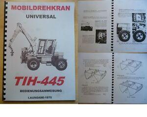 HANDBUCH-UNIVERSAL-TIH-445-W50-L60-UTB-T174-T-157-GT-124-WEIMAR-FORTSCHRITT-IFA