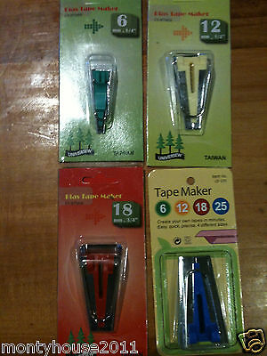 New!!  Fabric Bias Tape Maker 4 Sizes 6mm,12mm,18mm & 25mm