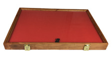 Cherry Wood Display Case 18 X 24 X 2 For Arrowheads Knifes Collectibles Amp More