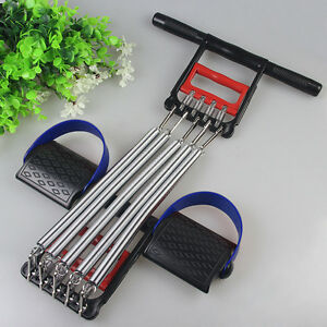 Chest-Expander-Spring-Resistance-Hand-Grip-Exerciser-Workout-Removable-5-Springs