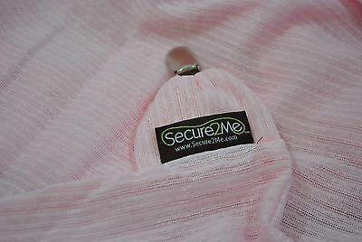 NEW Clip on Baby Blanket Stroller Sun Shade Nursing Secure2Me Pink Summer Wrap