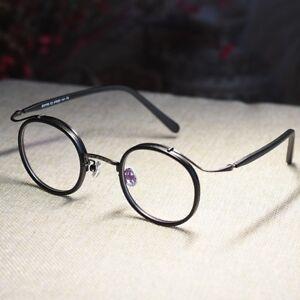 Vintage-Round-Eyeglasses-Frame-John-Lennon-black-glasses-circle-lens-eyewear