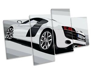 Audi R8 Sports Car MULTI CANVAS WALL ART Boxed Framed