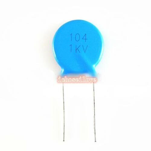 10pcs High-Voltage//HV Ceramic Disc Capacitors 104 100nF 0.1uF 1KV 1000V