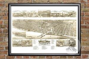 Vintage-Racine-WI-Map-1883-Historic-Wisconsin-Art-Old-Victorian-Industrial