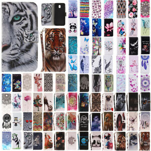For-Samsung-Galaxy-J3-J5-J7-Pro-2017-Painted-Flip-Leather-Wallet-Card-Case-Cover