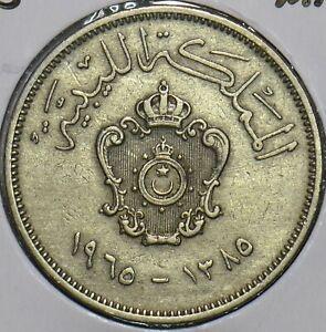 Libya 1965 AH 1385 20 Milliemes 196496 combine